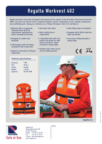 The collection of Workvests - Workvest 402