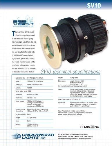 Sea Vision SV10 Metal Halide Underwater light