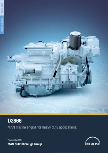Marine engine D2866 - heavy duty