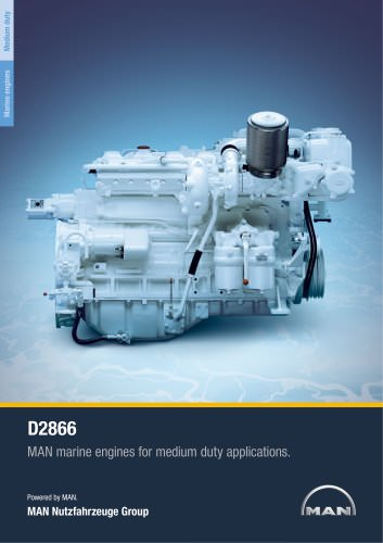 Marine engine D2866 - medium duty