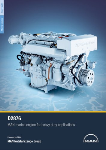 Marine engine D2876 - heavy duty