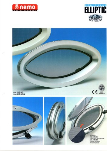 Aluminium Portlight (2000-Series Elliptical)
