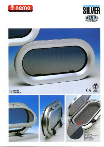 Aluminium  Portlights(2000 Series -Silver Oval)