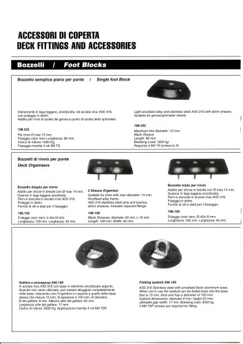 DECK FITTINGS AND ACCESSORIES