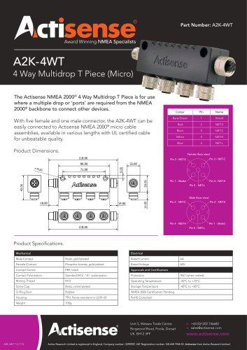 A2K-4WT Multidrop T Piece