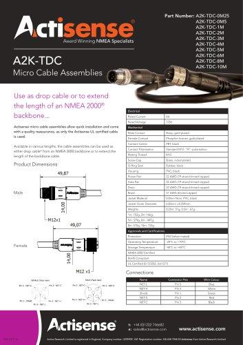 A2K-TDC Micro Cable Assemblies
