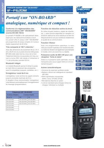 UHF on-board IC-F62DM