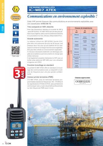 VHF Marine ATEX IC-M87ATEX