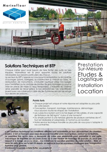 MARINEFLOOR® : solutions techniques et BTP