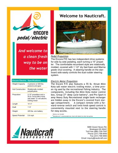 Encoer Pedal Electric Boat
