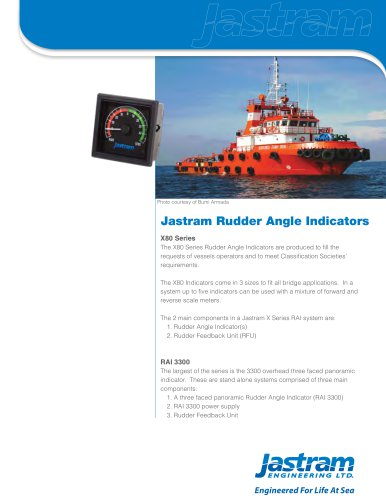 Rudder Angle Indicators (X80 Series, RAI 3300)