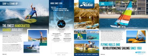 Hobie All-Products Quad-Fold Brochure