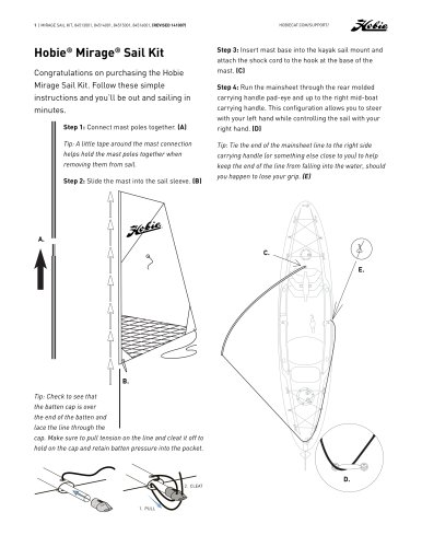 Hobie ®  Mirage ®  Sail Kit