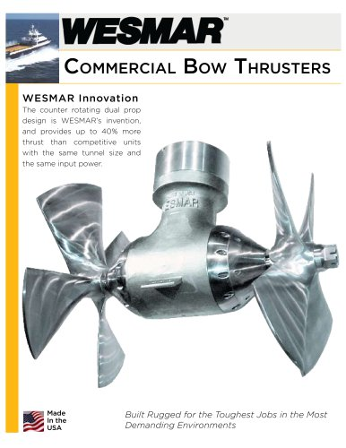 WESMAR Bow and Stern Thruster for Commercial Vessels