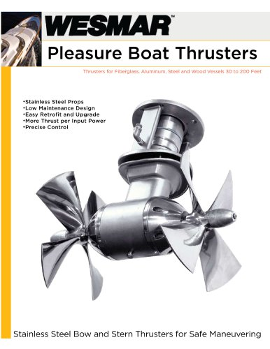 WESMAR Pleasure Boat Thrusters