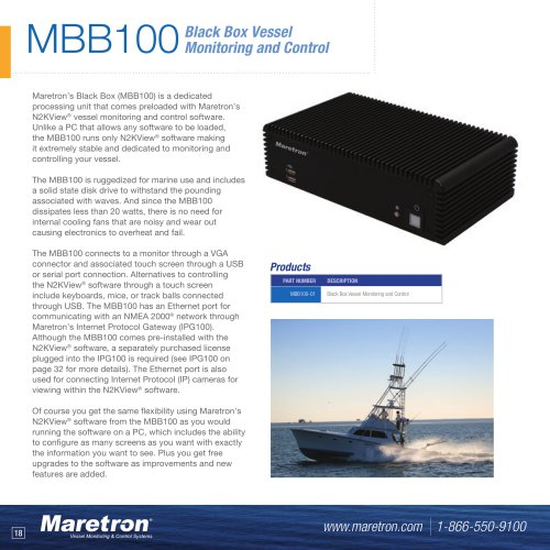 MBB100 black box vessel monitoring and control computer