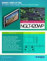 "NGLT 420WP, 42"" sunlight readable outdoor LCD TV monitor"