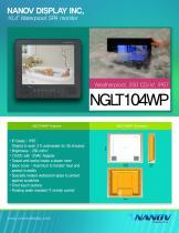 """NGLT104WP, 10.4"""" IP67 waterproof TV monitor"""