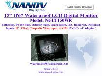 "NGLT150WR, 15"" IP67 Waterproof LCD TV monitor PC"