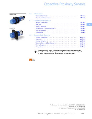 Capacitive proximity sensors