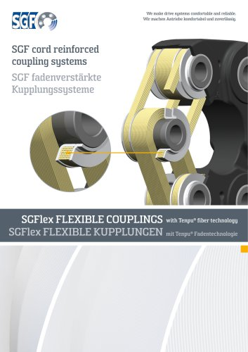 SGF cord reinforced coupling systems