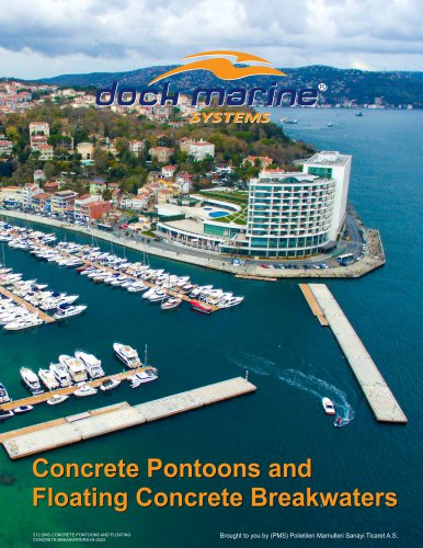 CONCRETE PONTOONS AND FLOATING CONCRETE BREAKWATERS