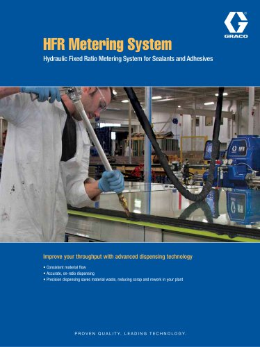 Brochure - HFR Metering System for sealants and adhesives