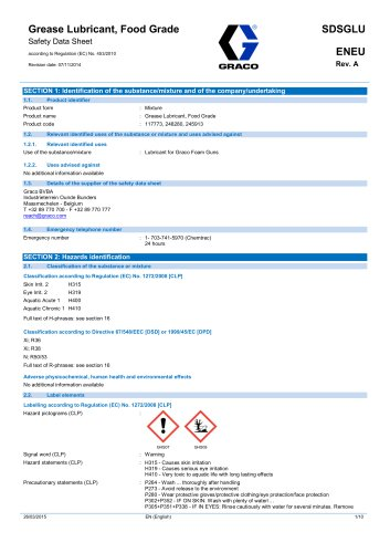 Grease Lubricant, Food Grade