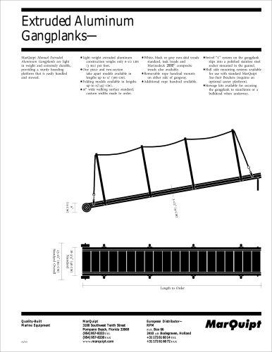 Specification Aluminium Gangplank