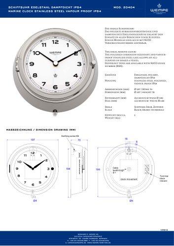 WEMPE Marine clock - 20404