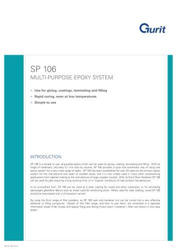 SP 106 - Multi-purpose Epoxy System