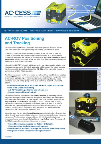 AC-ROV Positioning and Tracking