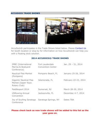 Trade Shows 2014