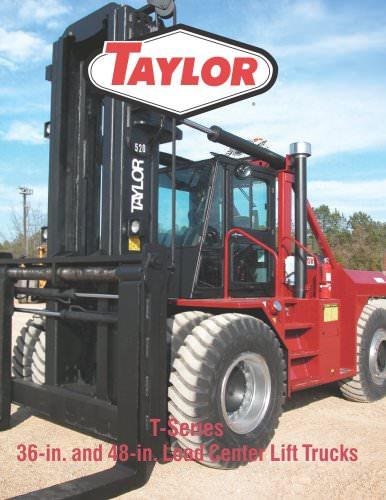 T Series 36 and 48 inch L.C. Industrial Lift Trucks