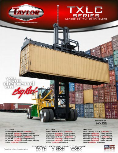 TXLC Loaded Container Handlers