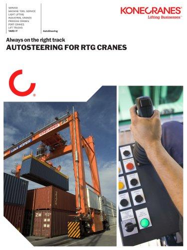 Autosteering for RTGRTG Cranes