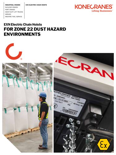 eXN Electric Chain Hoists for Zone 22 Dust Hazard Environments
