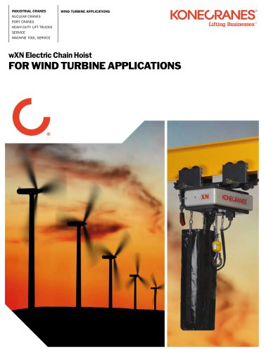 Hoists and Winches for Wind Turbine Applications