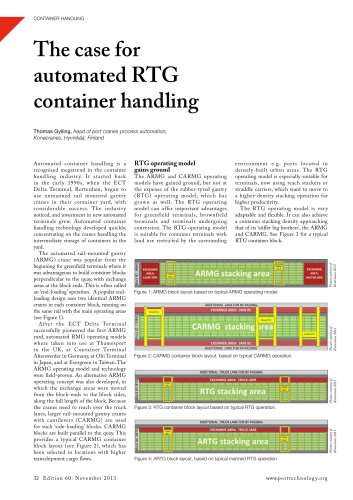 The case for  automated RTG  container handling