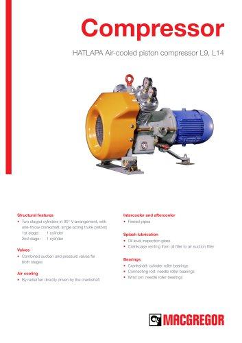 HATLAPA Air-cooled piston compressor L9, L14