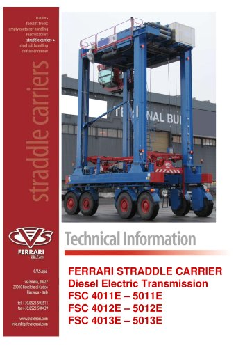 Straddle carrier diesel electric