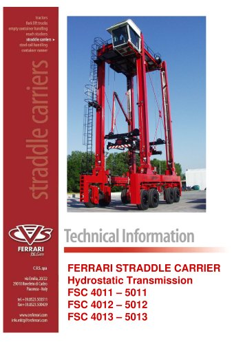 Straddle carrier hydrostatic - 2009