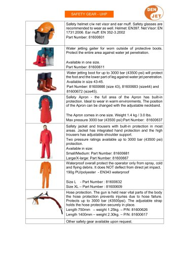 SAFETY GEAR - UHP
