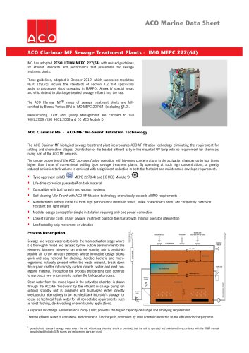 ACO Marine Data Sheet Clarimar MF v3 2014