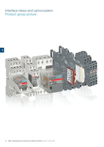 Catalog 2013/2014 Electronic Products and Relays - Chapter Interface relays and optocouplers
