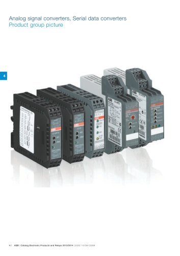 Catalog 2013/2014 Electronic Products and Relays - Chapter Signal Converters