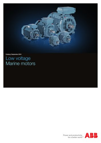 Low voltage Marine motors EN 09-2016