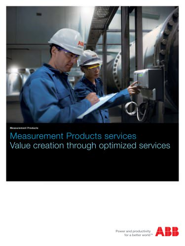 Measurement Products services: Value creation through optimized services