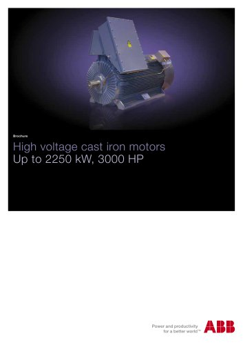 PDF Brochure High voltage cast iron motors, HXR