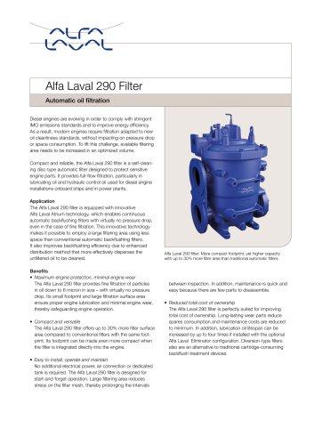Alfa Laval 290 Filter
